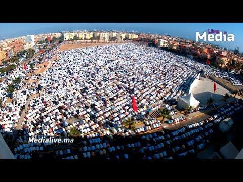 في مشهد مهيب .. الالاف من سكان مدينة المحمدية يؤدون صلاة عيد الفطر بمصلى المحمدية