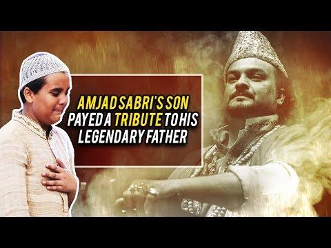 Amjad Sabri's Son Payed A Beautiful Tribute To His Legendary Father | Ramazan 2018 | Aplus