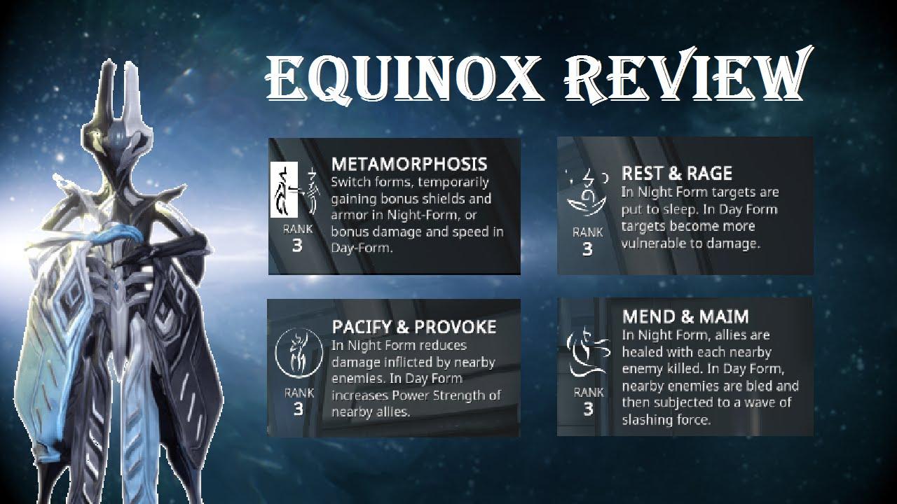 Warframe - Equinox Frame Review - YouTube