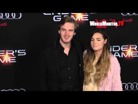 Thumbnail: PewDiePie 'Felix Kjellberg' and girlfriend Marzia Bisognin at Ender's Game LA premiere