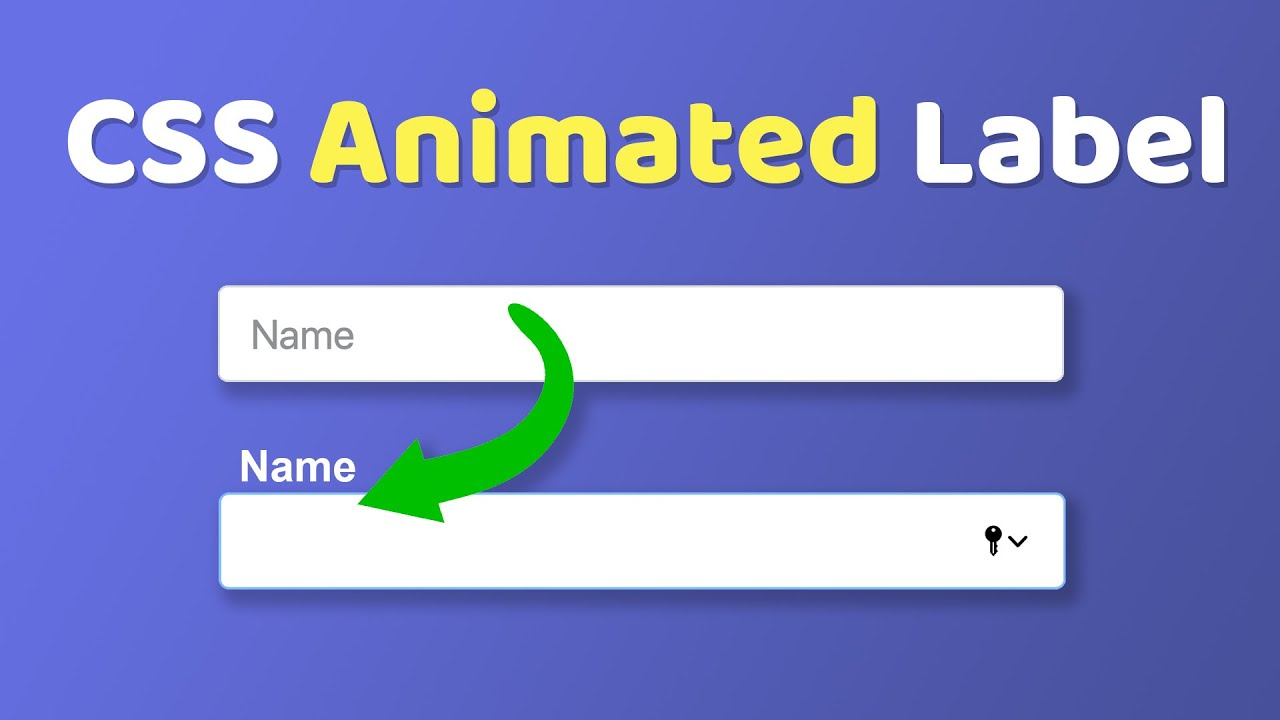 Animated Floating Input Labels Pure CSS