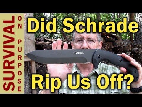 Hollow Grind Schrade SCHF43 Jessica X - Rip Off Or Honest Mistake?