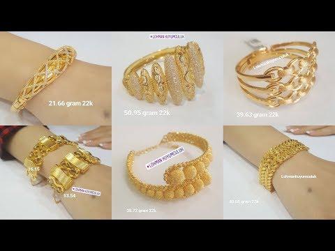 Latest Designer Gold Bracelet Turkey Designs with WEIGHT