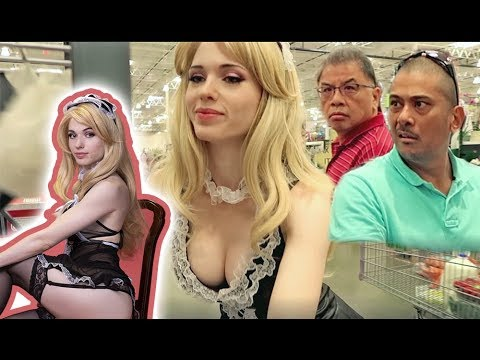 COSTCO SHOPPERS REACT TO FRENCH MAID COSPLAY