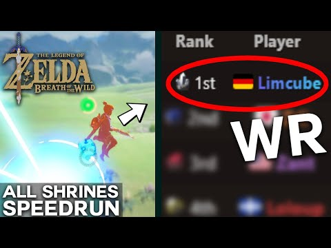 Using The NEW GLITCH To Get A WORLD RECORD / All Shrines (No Amiibo) In 7:38:28