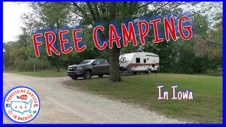 FREE CAMPING in I๐wa ~ Hickory Hills County Park ~ Full Time RV living ~ POA vlog
