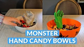 Moving Monster Hand Halloween Candy Bowls