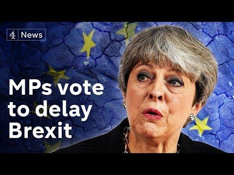 May wins vote to seek Brexit delay|#BREXIT