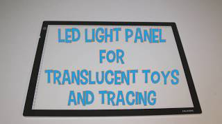 Think Fast Toys - LED Light Panel for Translucent Toys and Tracing