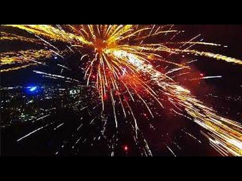 【HD】 GoPro リモートヘリで花火の爆発を内側から撮影