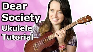 madison Beer - Dear Society || Ukulele Tutorial and Chords!