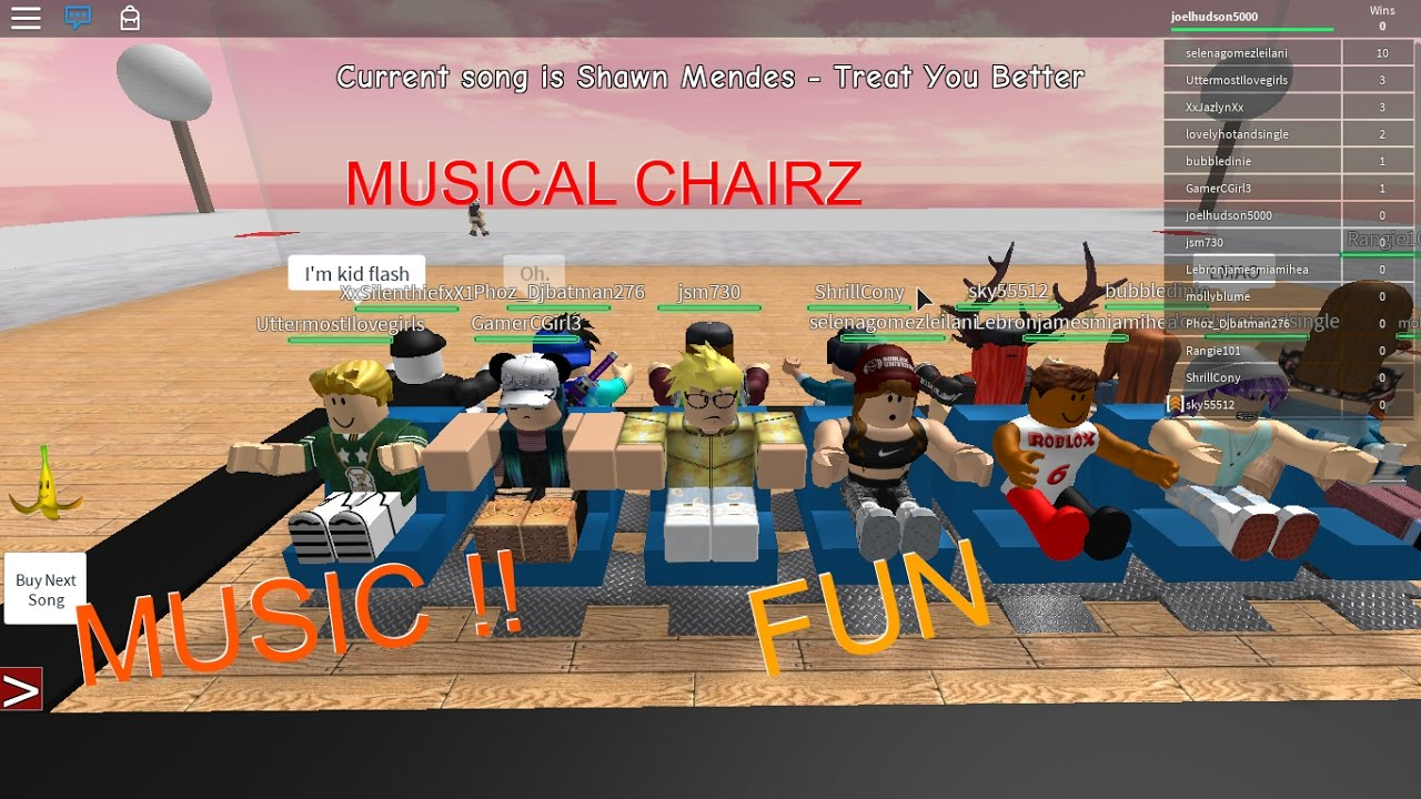 Roblox musical chairs youtube - Roblox Musical Chairs