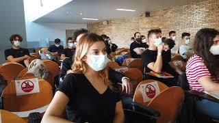 Oggi, all'UniMol, primo giorno di lezioni dell'a.a. 2020/2021.Il saluto in aula del Rettore