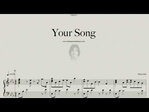 Your Song  -  Elton John  Pianoversion