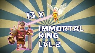 Clash of Clans - Troll Army#2 | Immortal Barb King | Mass Healer