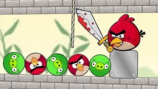 Angry Birds Piggies Out - CUT ROPE TO RESCUE BIRDS AND KICK ROUND PIGS!