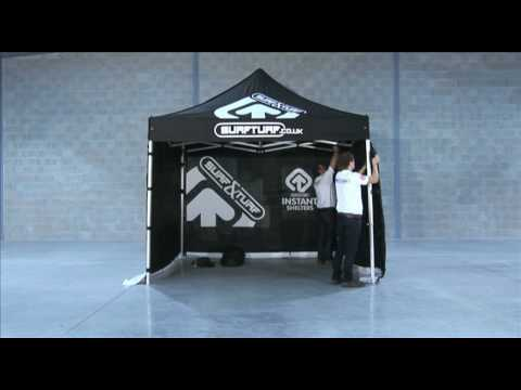 Surf & Turf Instant Shelters 3m x 3m Pro Tex Instant Shelter being erected
