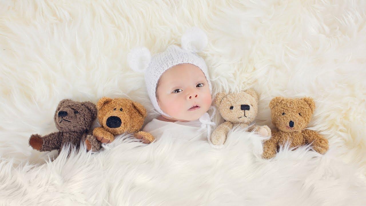 Studio newborn photoshoot with a sweet little baby boy