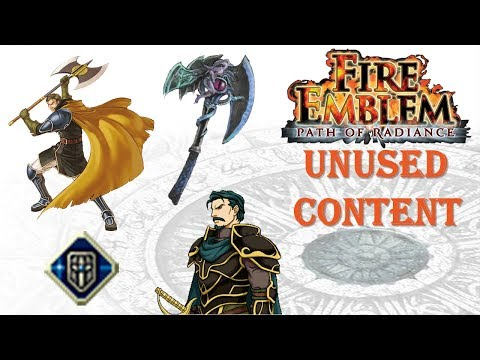 Fire Emblem Path of Radiance: Unused Content