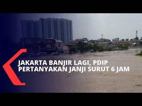 Jakarta Masih Terendam Banjir, PDIP Pertanyakan Janji Anies Soal Banjir Jakarta Surut dalam 6 Jam