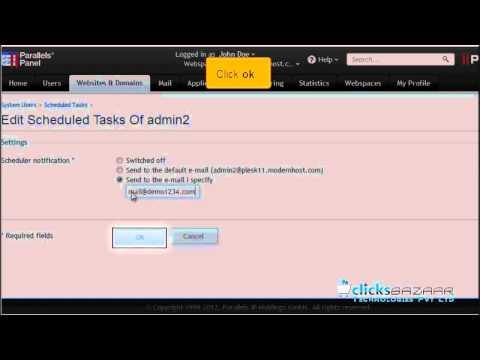 How to set up scheduled tasks cron jobs in Plesk