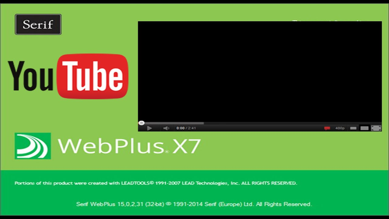 How to add a YouTube video to a Serif WebPlus x7 page 2015 - YouTube