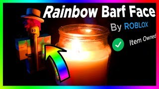 how i FINALLY got the RAINBOW BARF FACE on ROBLOX...