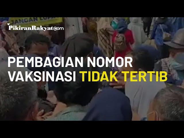 Viral, Video Proses Pembagian Nomor Urut Vaksinasi Covid-19 di RSUD Banten Berlangsung Tidak Tertib
