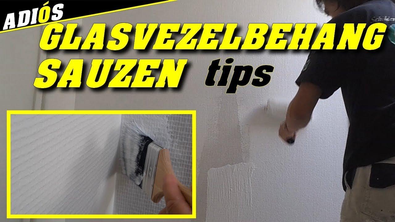 Stucen Over Glasvezelbehang.Glasvezelbehang Schilderen Tips Om Glasvezelbehang Beter Te Sauzen
