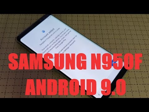 How To Bypass Google Account N950F Android 9.0 / New Method 2019
