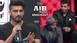 Arjun Kapoor FINALLY SPEAKS About AIB Knockout Roast Controversy (UNCUT FOOTAGE)