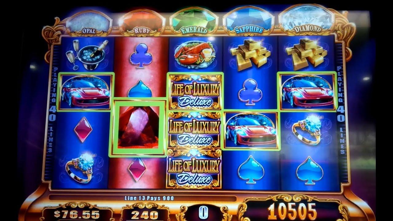 Life Of Luxury Deluxe Slot Machine Super Big Win And