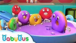 *NEW* 알록달록 도넛 춤을 춰요 색깔송   어린이노래  베이비버스 인기동요  BabyBus