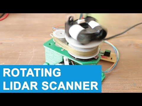 Rotating 360 LIDAR Scanner - 3D Printed up and down scanning - Robotic Vehicle #9