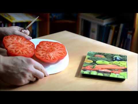 Сорт томата Розовый гигант - вес помидора и вид на срезе