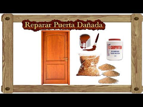 Remedio casero para reparar agujeros o grietas en madera for Reparar puerta madera
