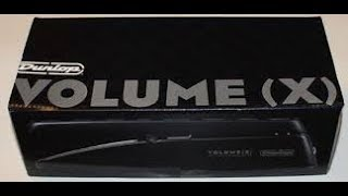 DUNLOP VOLUME X Volume Pedal Overview and Demo