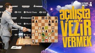 Magnus Carlsen Açılışta Vezir Feda Ediyor