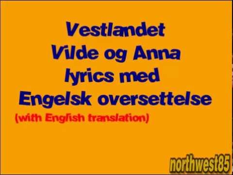 MGPjr 2016 Vestlandet Vilde og Anna lyrics med engelsk oversettelse (with english translation)
