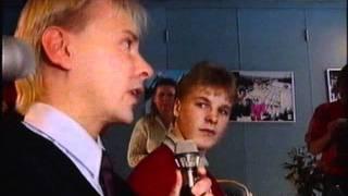Matti Nykänen ja Toni Nieminen haastattelussa, Olympialaiset 1992