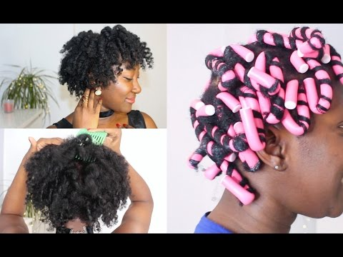 First Time Flexi Rods On Thin Fine Natural Hair 4c