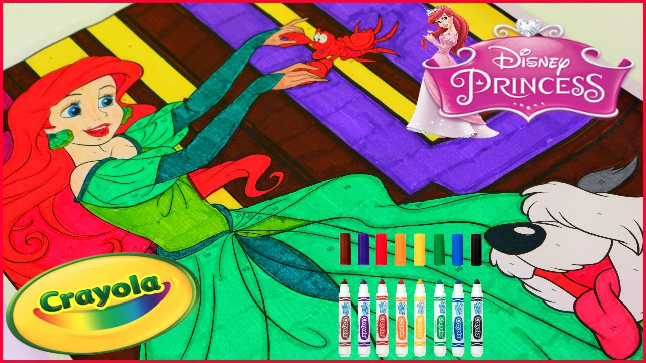 Princess Ariel Crayola Giant Color By Number Disney Princess