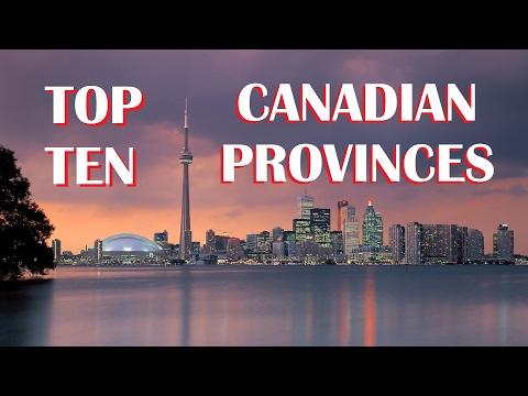 Top Ten Canadian Provinces