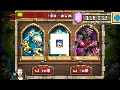 120,000 Gems For NEW HERO Revenant How Many Does IT TAKE Castle Clash