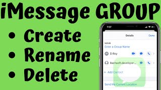 How to Create/Delete and Name a Group Messages on iPhone in iOS 12/13: iPhone XS Max/XR/ X/8/7/6