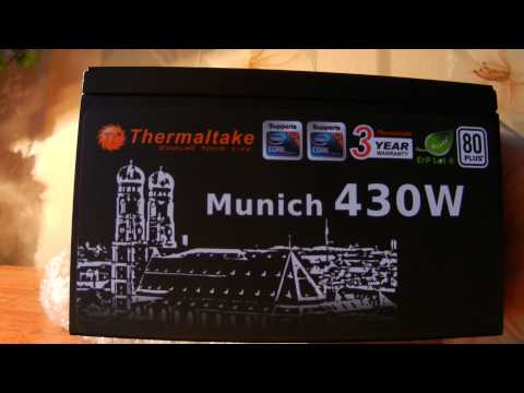 Thermaltake Munich 430W Распаковка / русский