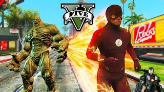 GTA 5 PC - The Flash VS Abomination ! Again ! With War Machine ? (Ultimate Flash Mod Gameplay)