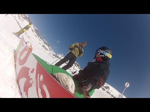 SNOWBOARDING AND SKIING ON ALPS - ZERMATT GoPro
