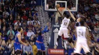 jrue holiday crosses over and throws it down against the knicks   12 30 16