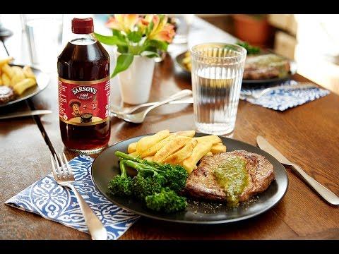 Chimichurri Sauce With Rib Eye Steak Recipe - Sarson's